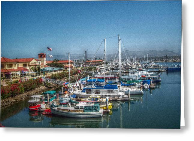 Ventura California Greeting Cards - Day at Ventura Harbor Greeting Card by Cindy Nunn
