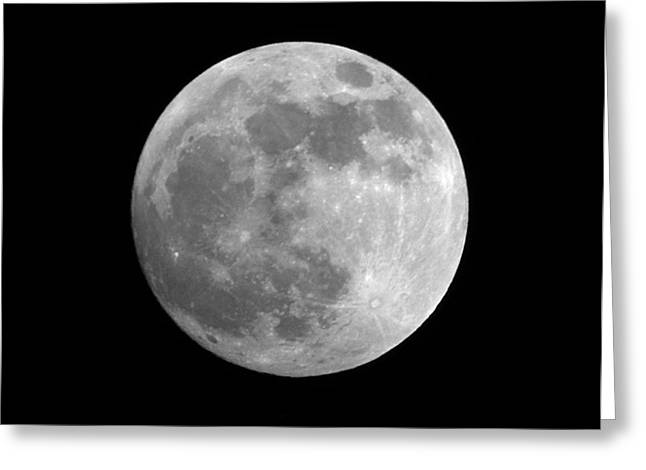 Sea Moon Full Moon Greeting Cards - Day Before the Full moon Greeting Card by Chris Day