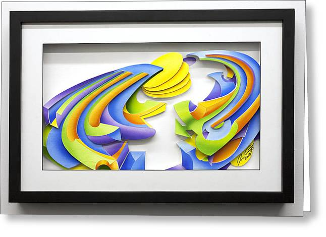 Colorful Reliefs Greeting Cards - Day Greeting Card by Jason Amatangelo