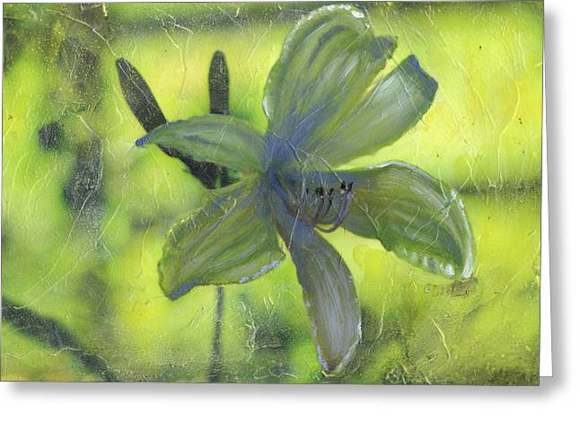 Day Lilly Paintings Greeting Cards - Day Lily number one Greeting Card by Gary Deslauriers