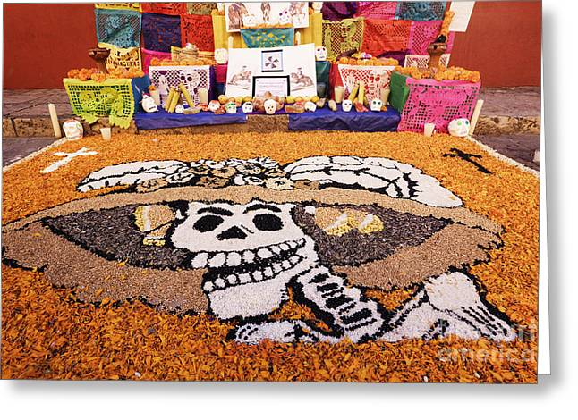 The Bean Greeting Cards - Day of the Dead Art Greeting Card by Jeremy Woodhouse