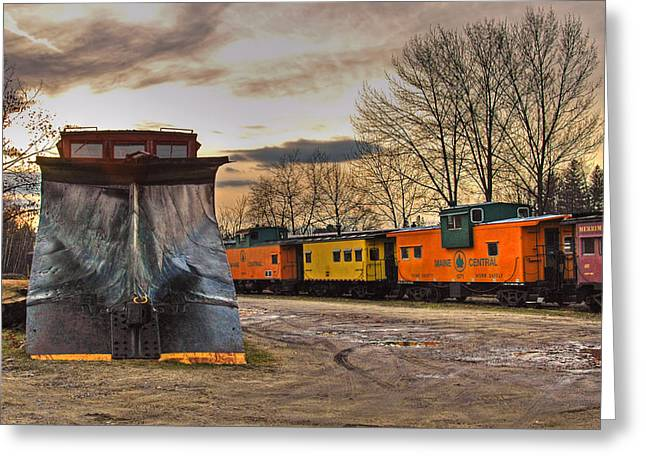 Old Caboose Greeting Cards - Day of the Plow Greeting Card by Joann Vitali