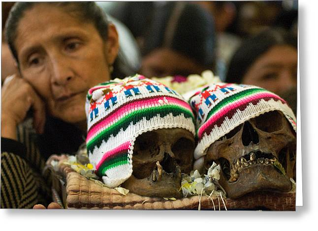 Andes Greeting Cards - Day of the skulls. Republic of Bolivia. Greeting Card by Eric Bauer