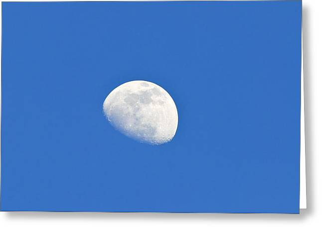 Astronomical Research Greeting Cards - Day Time Moon Greeting Card by Photostock-israel