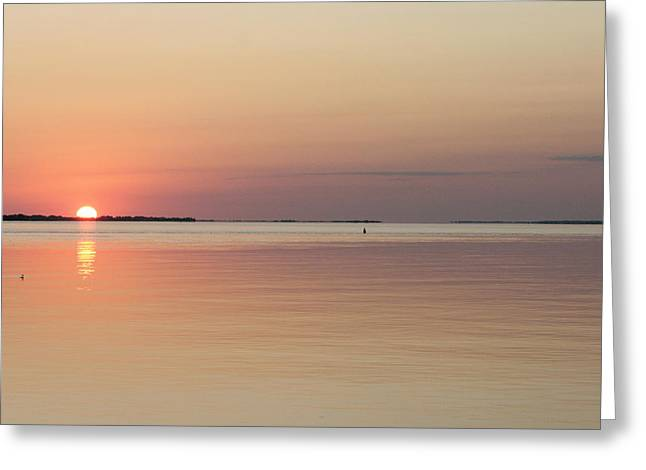 Long Island Photographs Greeting Cards - Daybreak Over Sexton Island Greeting Card by Christopher Kirby