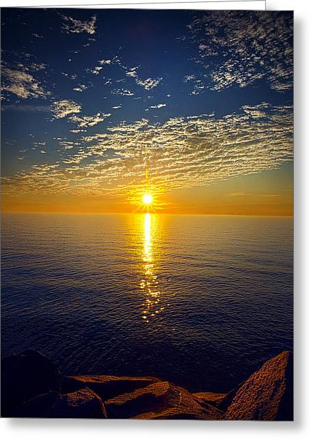 Geographic Greeting Cards - Daybreak Greeting Card by Phil Koch