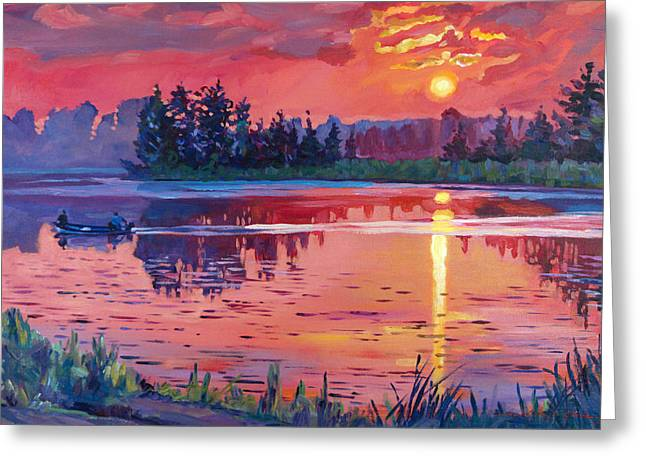 Most Greeting Cards - Daybreak Reflection Greeting Card by David Lloyd Glover