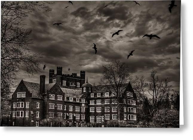 Ithaca Photographs Greeting Cards - Daydreams Darken Into Nightmares Greeting Card by Evelina Kremsdorf