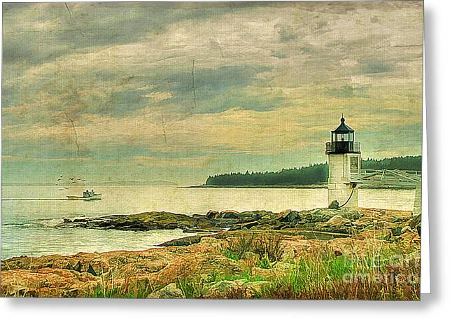 Maine Spring Greeting Cards - Days End Greeting Card by Darren Fisher