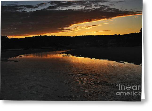 Sunset After A Storm Greeting Cards - Days End Greeting Card by Kaye Menner