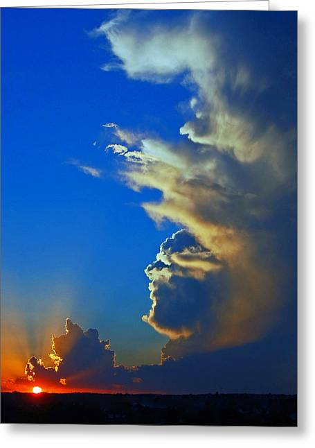 Randall Templeton Greeting Cards - Days end. Greeting Card by Randall Templeton
