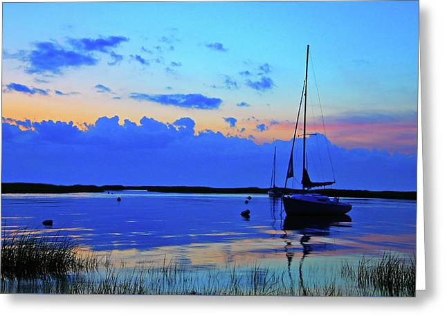 Day's End Greeting Card by Rick Berk