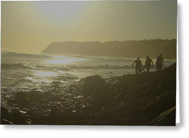 Wind Surfing Art Print Greeting Cards - Days End Greeting Card by Todd Breitling