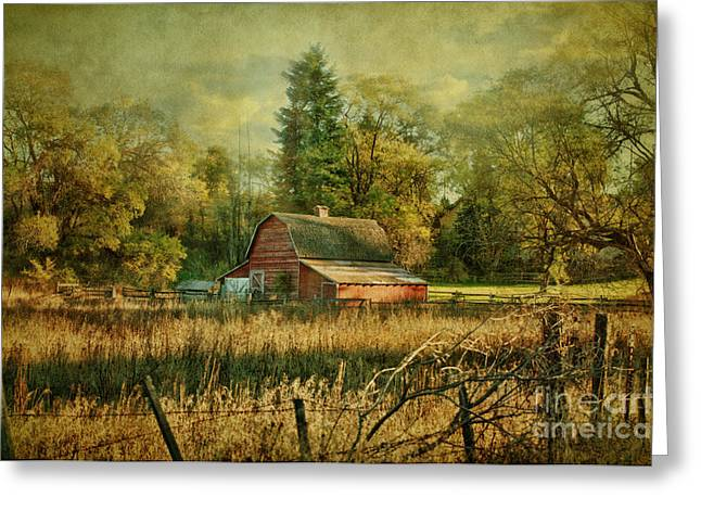 Old Barns Mixed Media Greeting Cards - Days Gone By Greeting Card by Reflective Moments  Photography and Digital Art Images