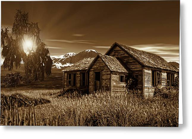 Old Barns Greeting Cards - Days Of Yore Greeting Card by Lourry Legarde