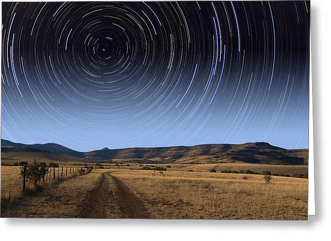 Rotation Greeting Cards - Daytime Startrails Greeting Card by Larry Landolfi