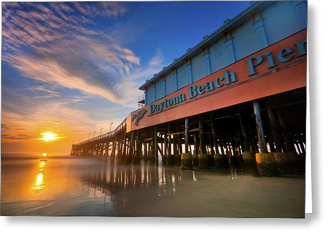 Daytona Sunrise Greeting Card by Ryan Heffron