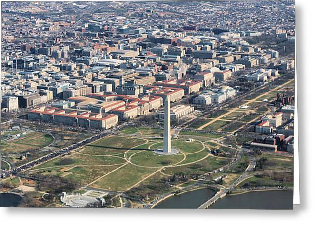 Dc From Above Greeting Card by JC Findley