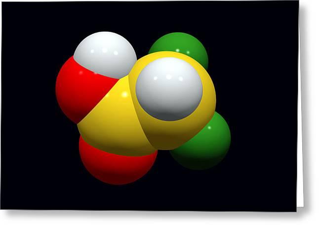 Single-celled Greeting Cards - Dca Drug Molecule Greeting Card by Dr Tim Evans