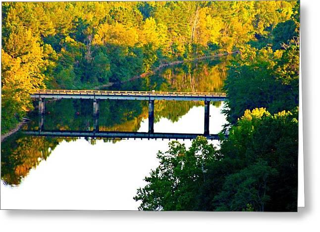 De Gray Bridge Greeting Card by Jan Canavan