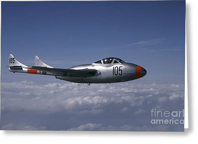 Space-plane Greeting Cards - De Havilland Dh 115 Vampire Trainer Greeting Card by Daniel Karlsson