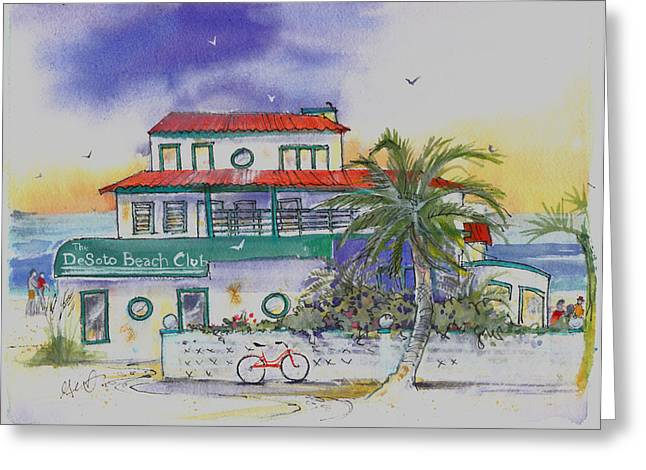 Low Country Watercolor Greeting Cards - De Soto Greeting Card by Gertrude Palmer