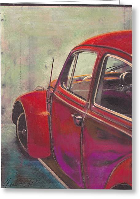 Vw Beetle Pastels Greeting Cards - Dead End Greeting Card by Sharon Poulton