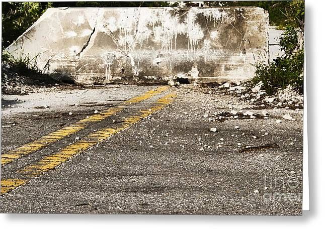Obstacles Greeting Cards - Dead end street Greeting Card by Blink Images