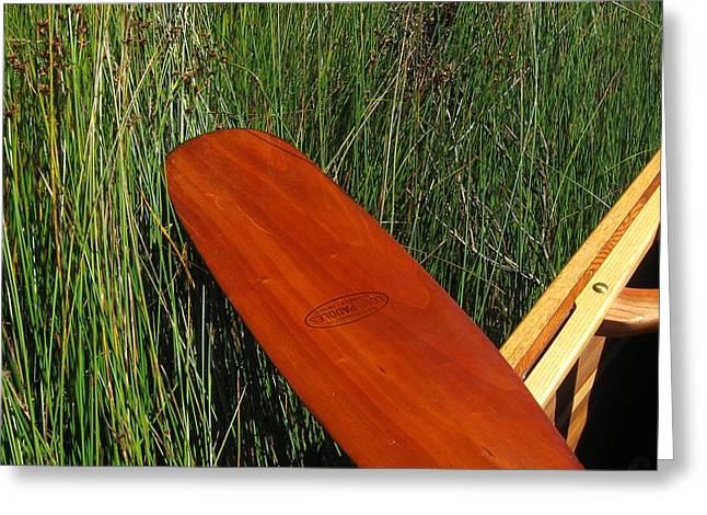 Canoe Pyrography Greeting Cards - Dead End Greeting Card by Waldemar Okon