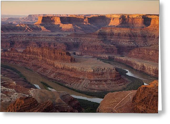 American Southwest Greeting Cards - Dead Horse Point Morning Greeting Card by Andrew Soundarajan
