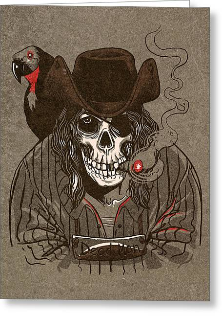 Skull Digital Art Greeting Cards - Dead Man Greeting Card by Michael Myers