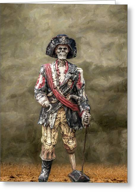 Buccaneer Greeting Cards - Dead Men Tell No Tales Greeting Card by Randy Steele