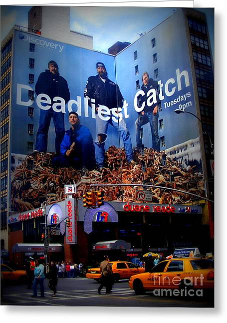 Deadliest Catch Greeting Cards - Deadliest Catch New Yorks Duane Reade Building Greeting Card by Ms Judi