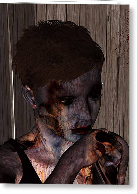 Zed Greeting Cards - Deadling I Greeting Card by Jean Gugliuzza