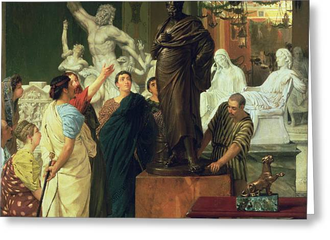 Dealer in Statues  Greeting Card by Sir Lawrence Alma-Tadema