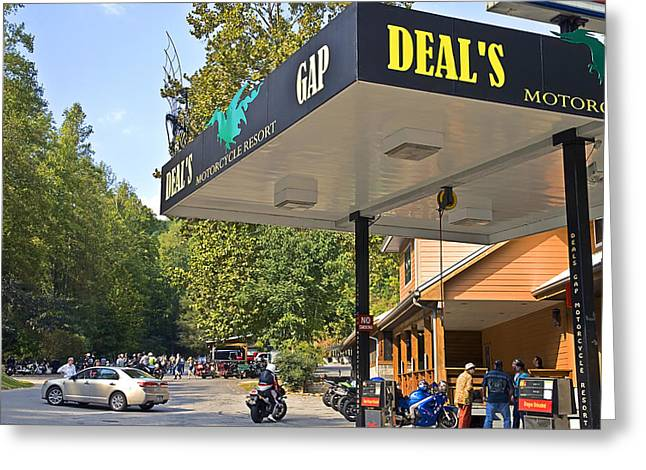 Susan Leggett Greeting Cards - Deals Gap Motorcycle Resort Greeting Card by Susan Leggett