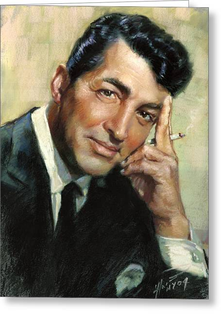 Rat Pack Greeting Cards - Dean Martin Greeting Card by Ylli Haruni