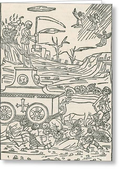 1493 Greeting Cards - Death, 1493 Greeting Card by Science Source