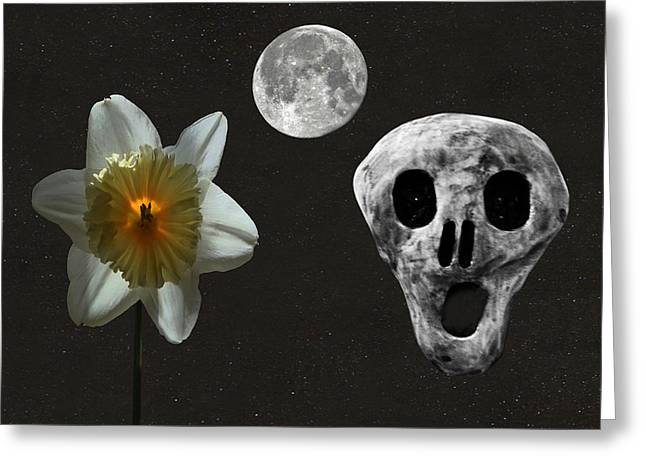 Death And The Daffodil  Greeting Card by Eric Kempson