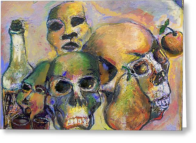 Biological Mixed Media Greeting Cards - Death Art 2 Greeting Card by Noredin Morgan