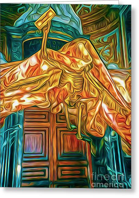 Gregory Dyer Digital Greeting Cards - Death at the Vatican Greeting Card by Gregory Dyer