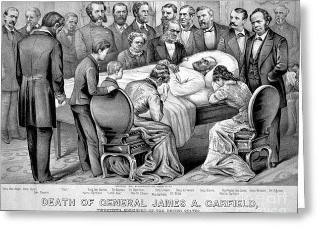 Death Of Garfield, 1881 Greeting Card by Photo Researchers