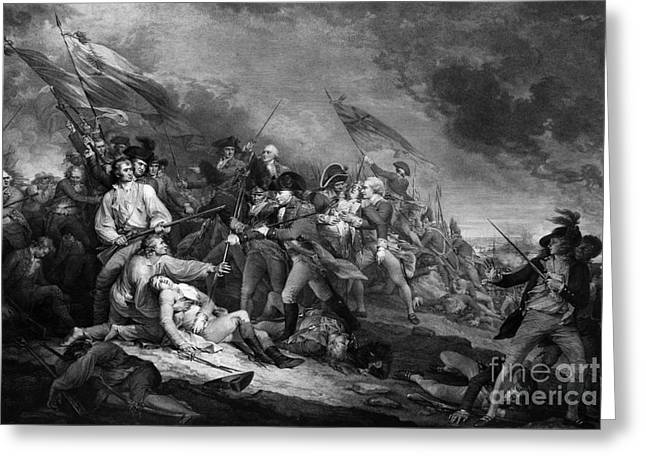 John Trumbull Greeting Cards - Death Of General Warren, 1775 Greeting Card by Omikron