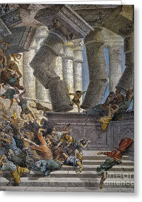 Dore Greeting Cards - Death Of Samson Greeting Card by Granger