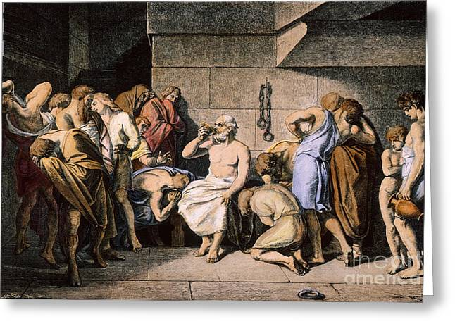 4th Century B.c. Greeting Cards - Death Of Socrates Greeting Card by Granger