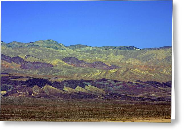 Rolling Hills Greeting Cards - Death Valley - Land of Extremes Greeting Card by Christine Till