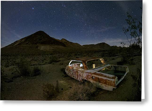 Star Valley Photographs Greeting Cards - Death Valley Drive-In Greeting Card by Sean Foster