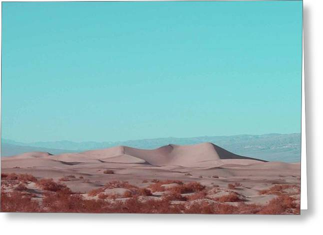Rural Landscapes Photographs Greeting Cards - Death Valley Dunes 2 Greeting Card by Naxart Studio