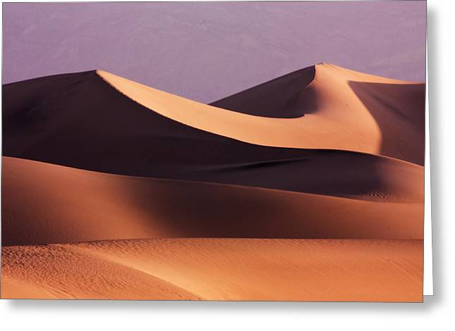 Golden Greeting Cards - Death Valley Dunes Greeting Card by Matt  Trimble