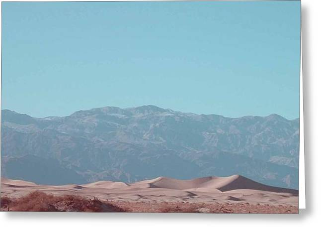 Field. Cloud Greeting Cards - Death Valley Dunes Greeting Card by Naxart Studio